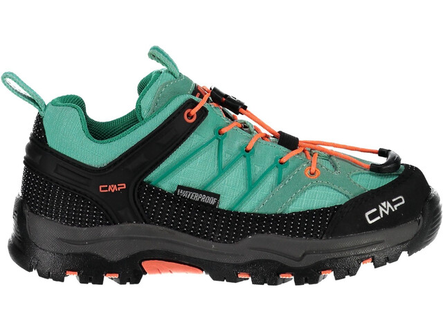CMP Campagnolo Rigel Low WP Trekking Shoes Junior Aquamint-Red Fluo